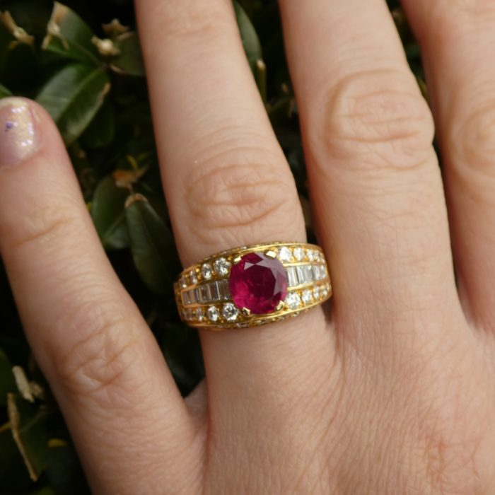 Fred, Paris Ruby and Diamond Band Ring