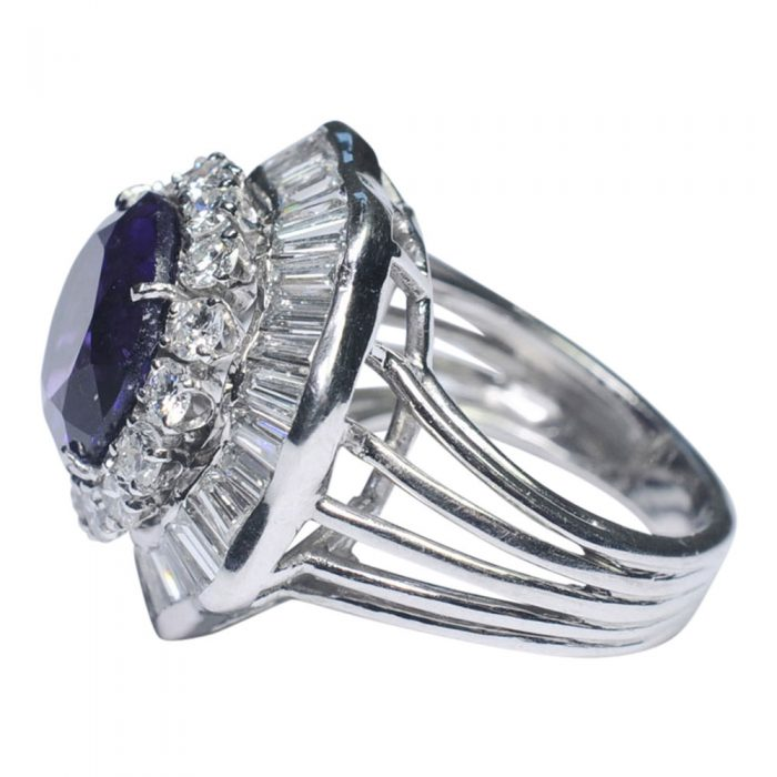 Amethyst and Diamond Cocktail Ring from Plaza Jewellery - image 3