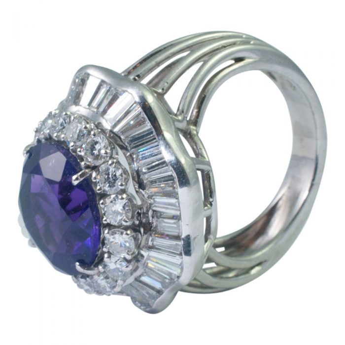 Amethyst and Diamond Cocktail Ring from Plaza Jewellery - image 4