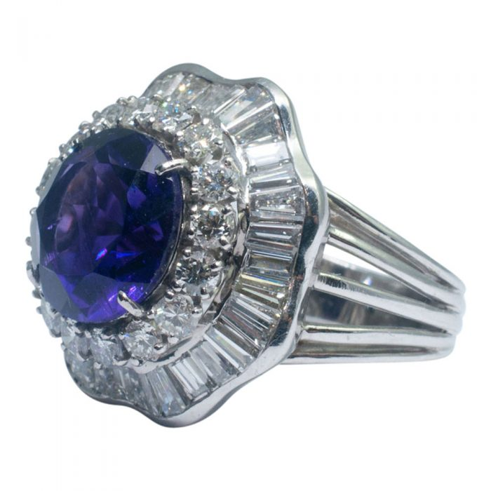 Amethyst and Diamond Cocktail Ring from Plaza Jewellery - image 5