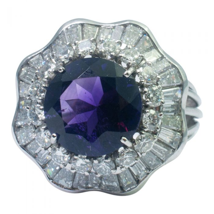 Amethyst and Diamond Cocktail Ring from Plaza Jewellery - image 7