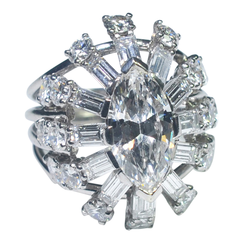 Diamond Marquise Cocktail Ring from Plaza Jewellery - image 1