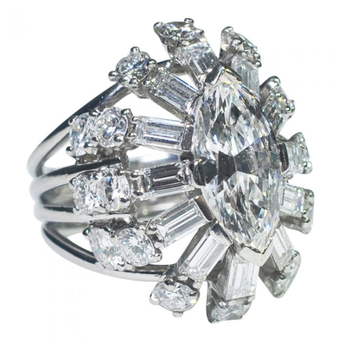 Diamond Marquise Cocktail Ring from Plaza Jewellery - image 2