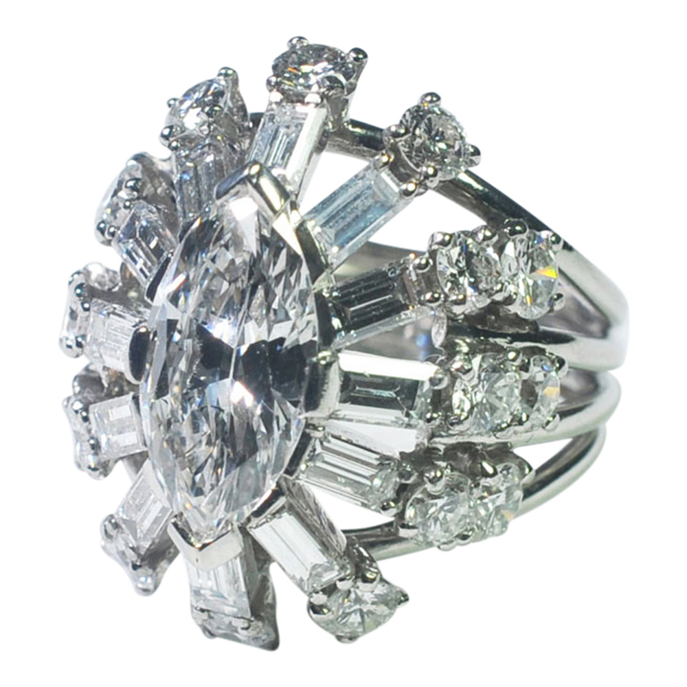 Diamond Marquise Cocktail Ring from Plaza Jewellery - image 3