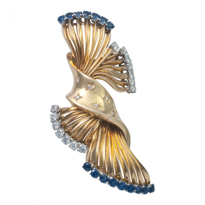 Sapphire and Diamond Brooch from Plaza Jewellery - image 2