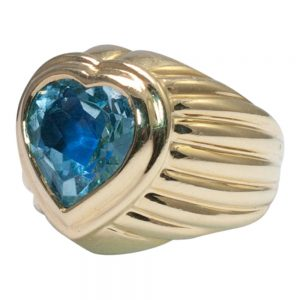 Aquamarine and Diamond Ring by Fred