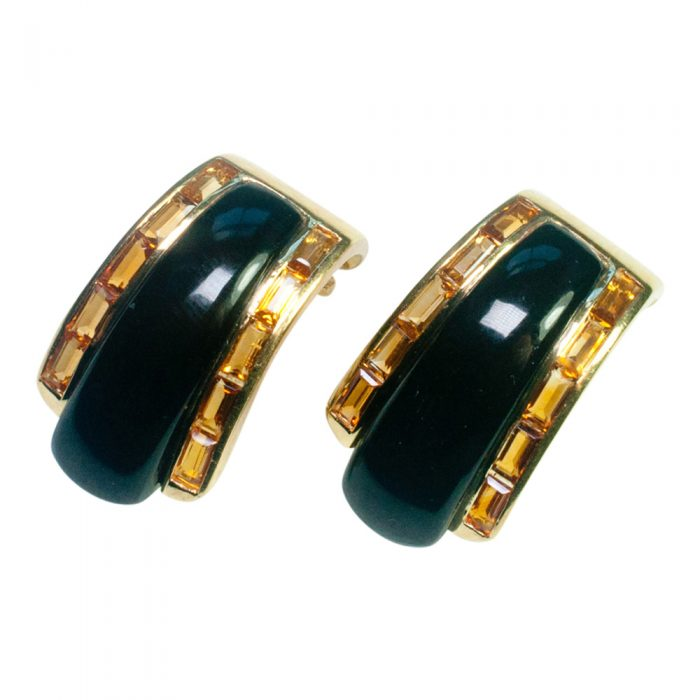 Onyx and Citrine Earrings by Sabbadini from Plaza Jewellery - image 1