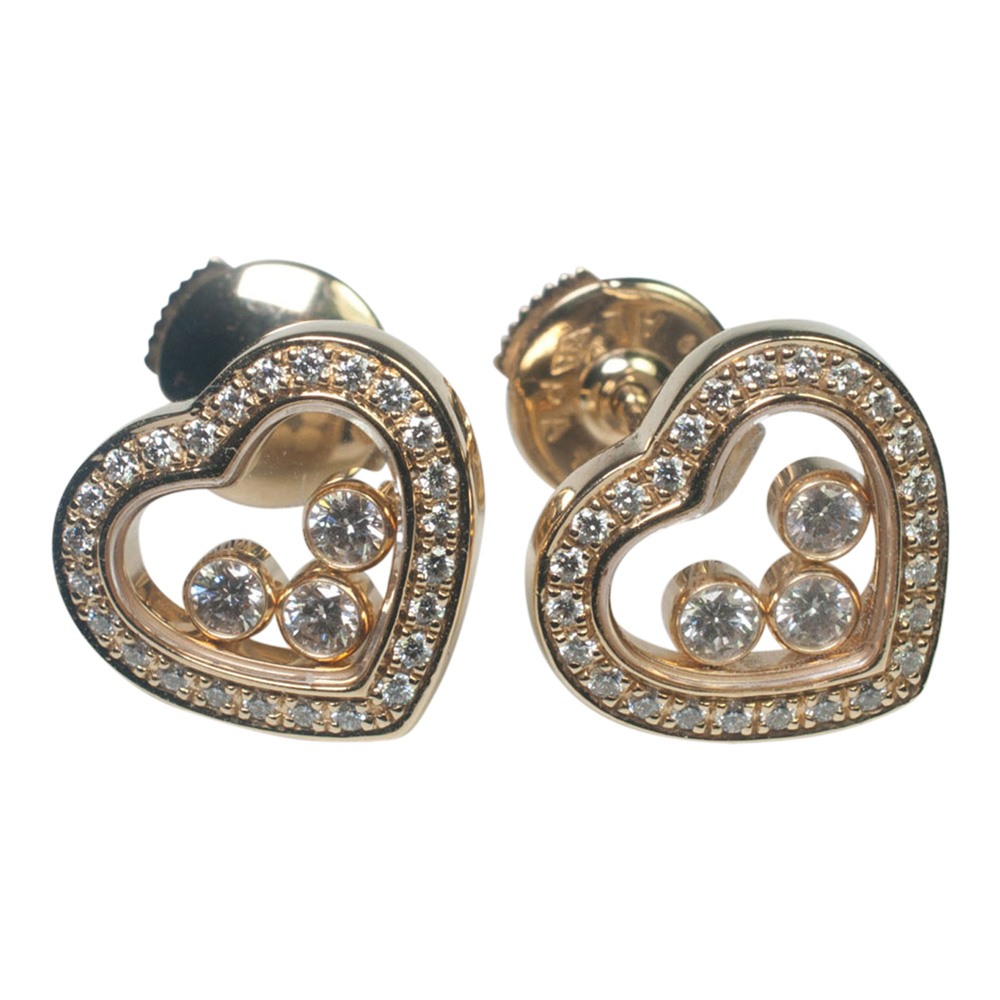 Chopard 'Happy Diamonds' and Gold Earrings