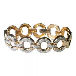 Gold and Diamond Circles Bracelet from Plaza Jewellery - image 1