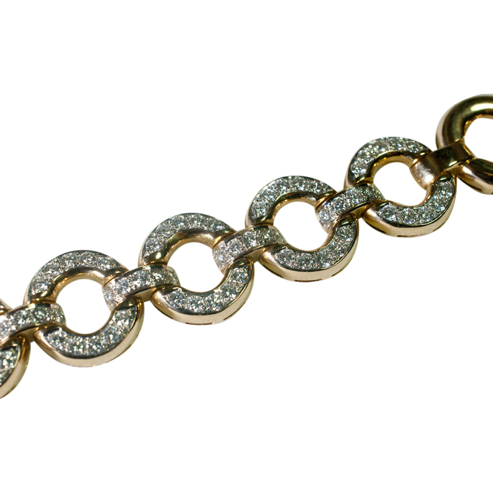 Gold and Diamond Circles Bracelet from Plaza Jewellery - image 2