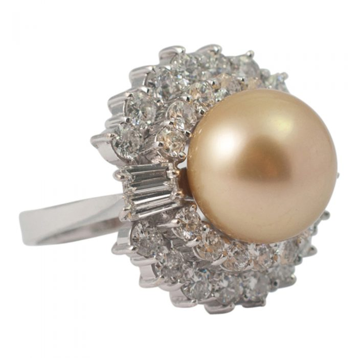 Golden South Sea Pearl and Diamond Ring from Plaza Jewellery - image 2