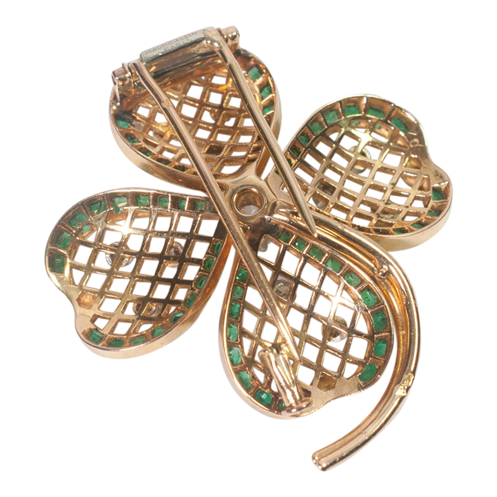 Mauboussin Emerald and Diamond Shamrock Brooch from Plaza Jewellery - image 5
