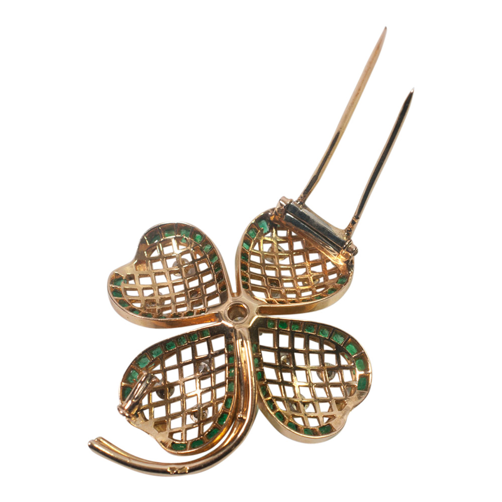 Mauboussin Emerald and Diamond Shamrock Brooch from Plaza Jewellery - image 6
