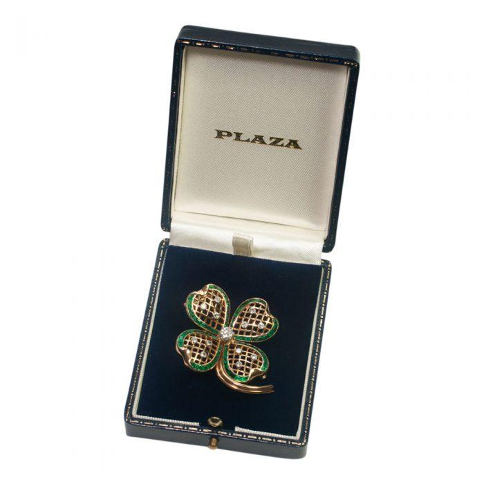 Mauboussin Emerald and Diamond Shamrock Brooch from Plaza Jewellery - image 7