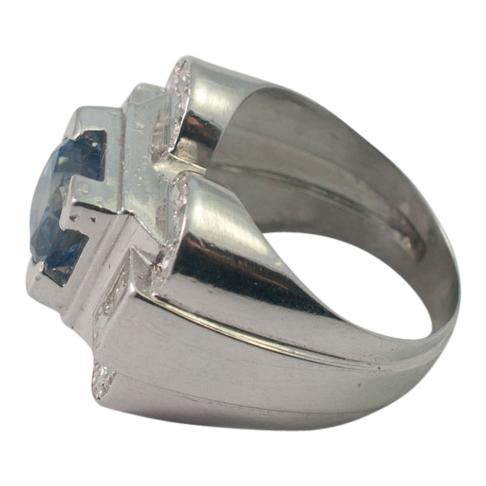 Art Deco Sapphire and Diamond Ring from Plaza Jewellery - image 5