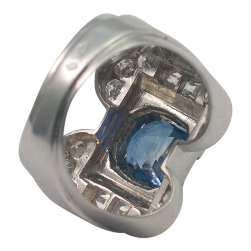 Art Deco Sapphire and Diamond Ring from Plaza Jewellery - image 6