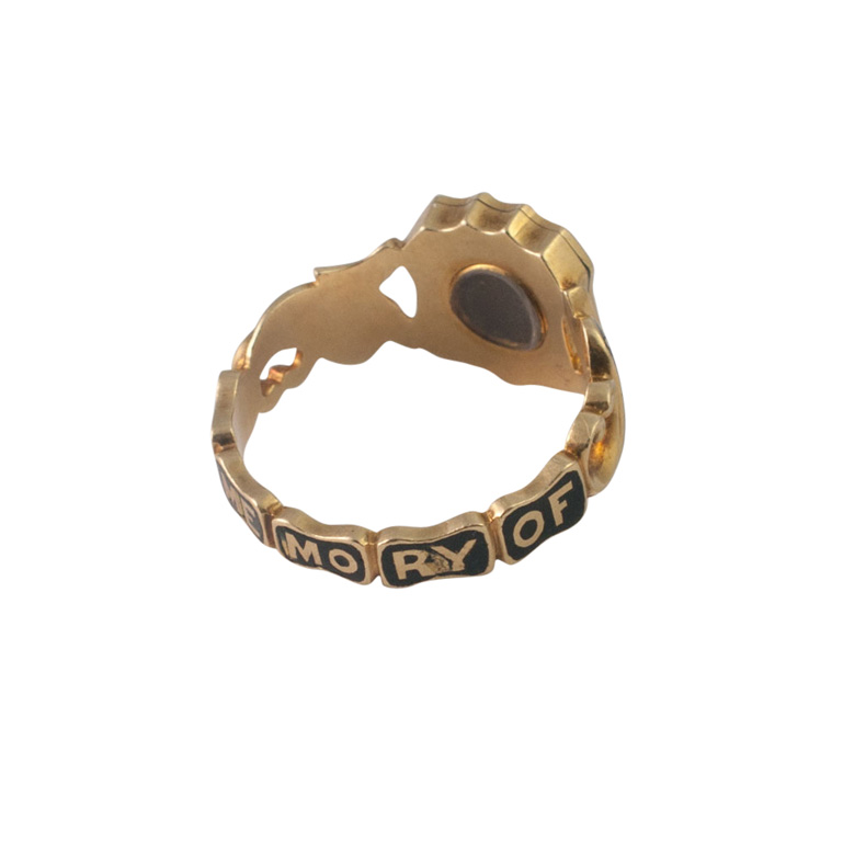 Victorian Gold and Diamond Enamel Mourning Ring from Plaza Jewellery - image 6