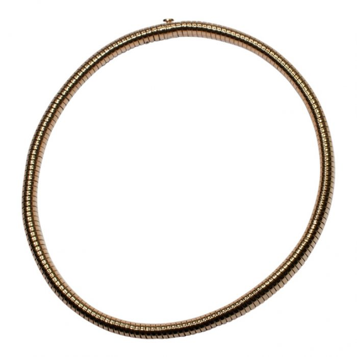 Retro Gold Gaspipe Necklace from Plaza Jewellery - image 1