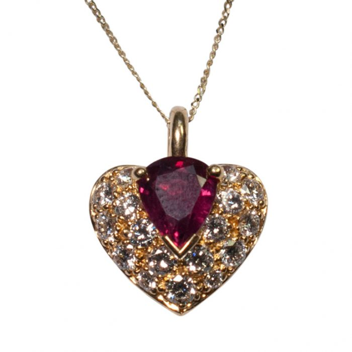 French Ruby and Diamond Heart Pendant from Plaza Jewellery - image 4