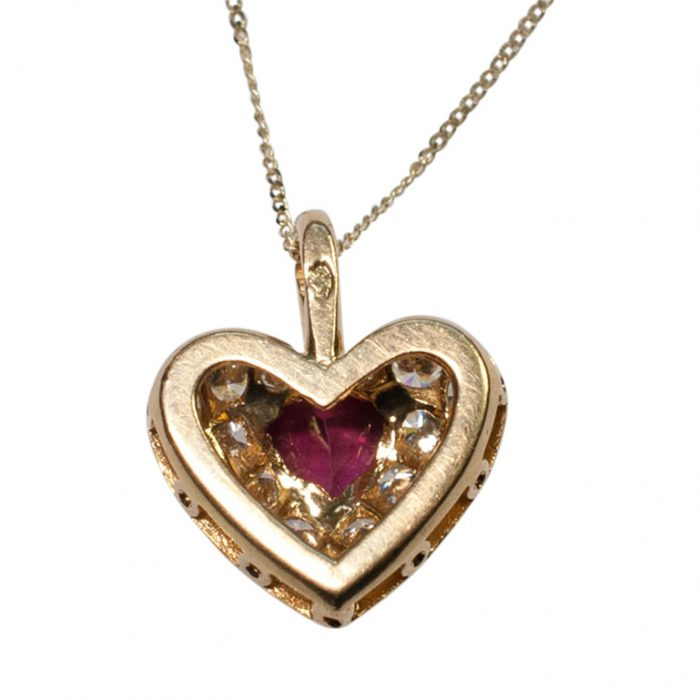 French Ruby and Diamond Heart Pendant from Plaza Jewellery - image 5