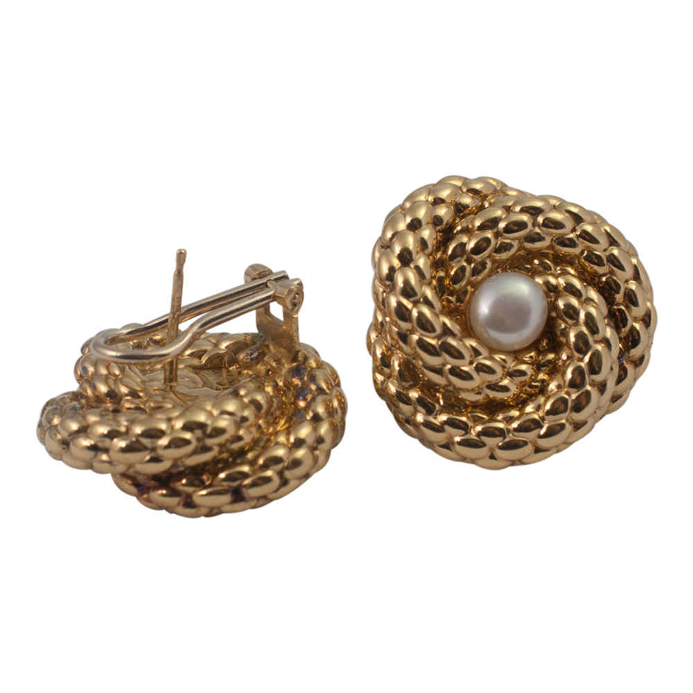 Gold Fope Earrings from Plaza Jewellery - image 1