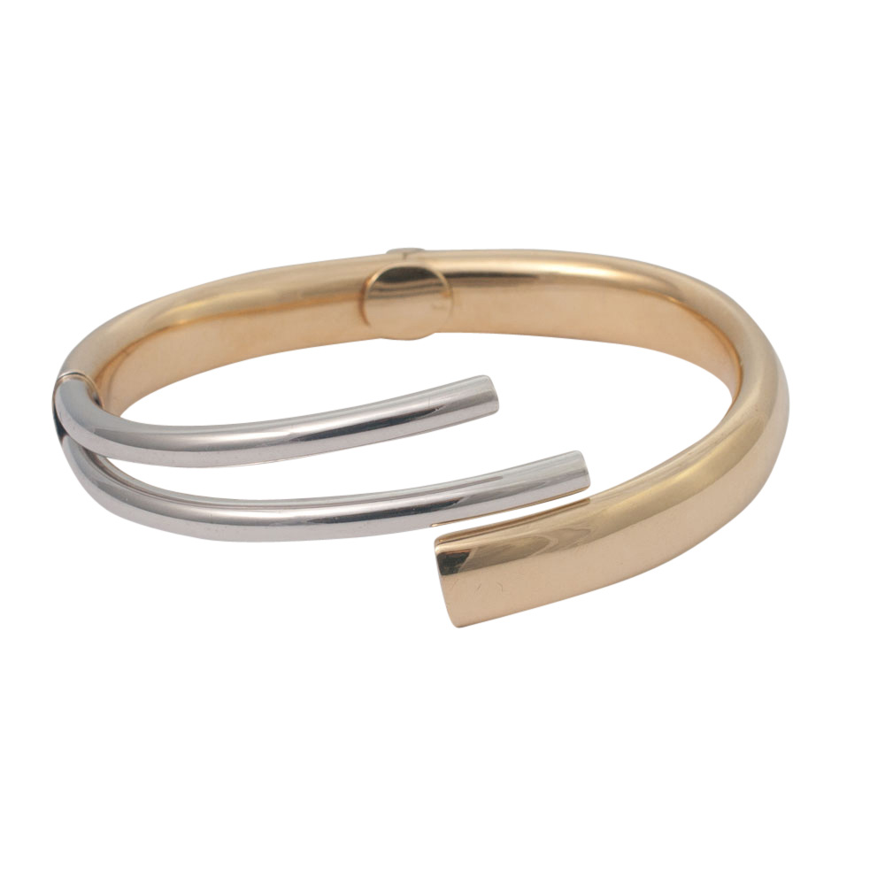 Bi-Colour 18ct Gold Bangle from Plaza Jewellery - image 1
