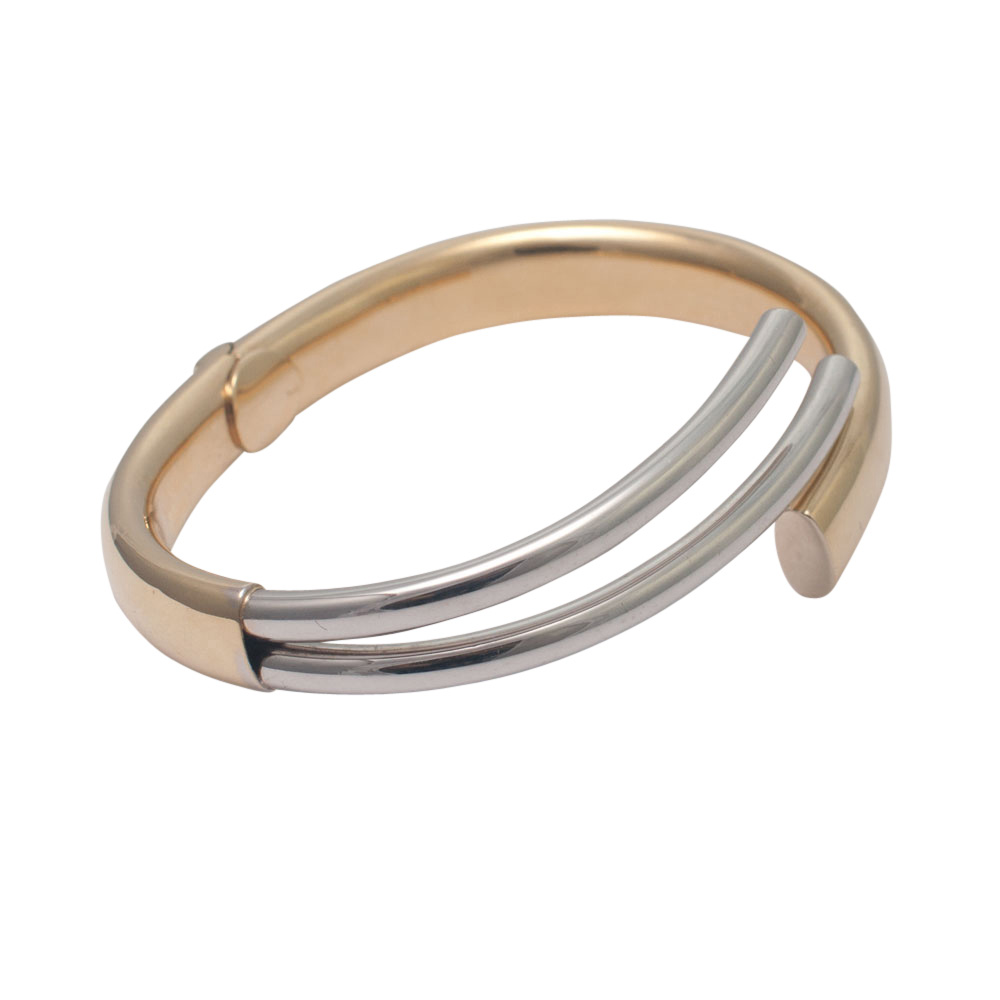 Bi-Colour 18ct Gold Bangle from Plaza Jewellery - image 2