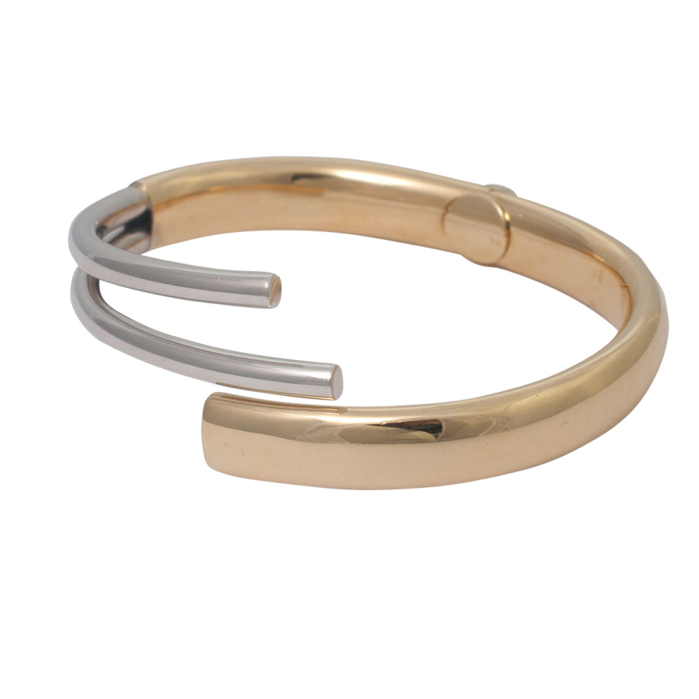 Bi-Colour 18ct Gold Bangle from Plaza Jewellery - image 3