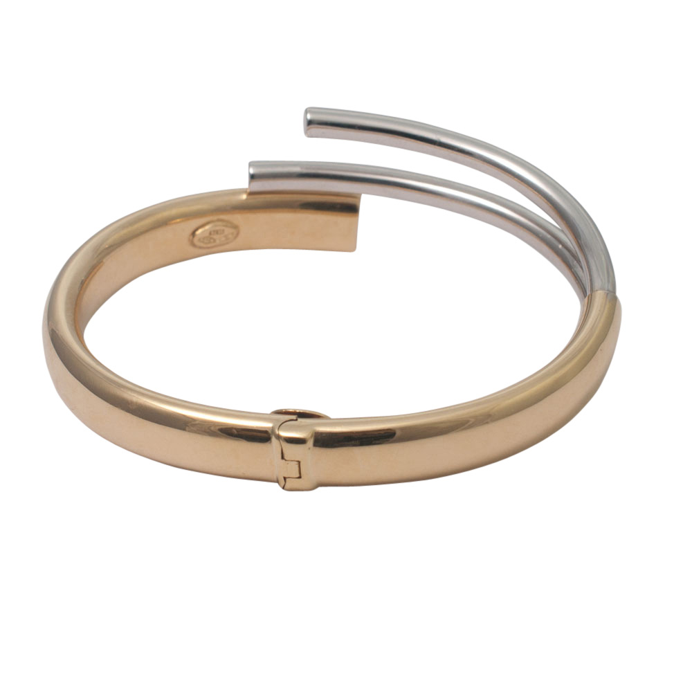 Bi-Colour 18ct Gold Bangle from Plaza Jewellery - image 4