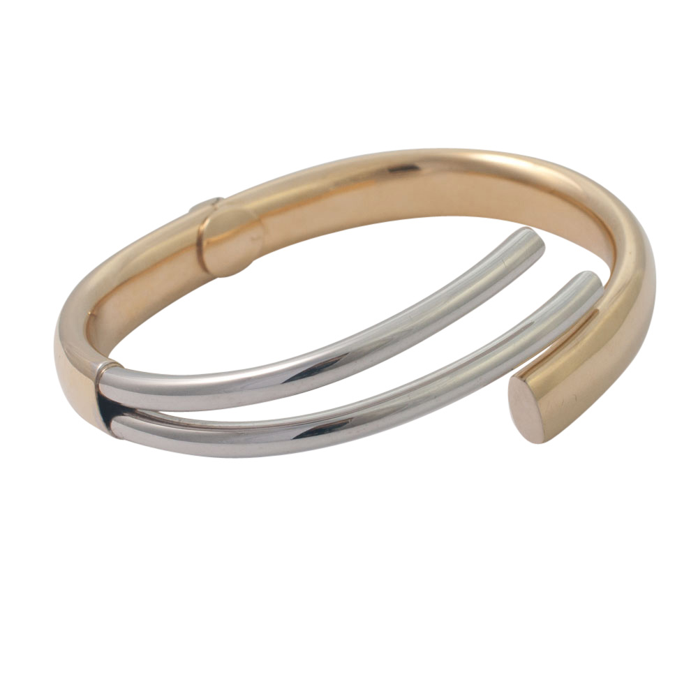Bi-Colour 18ct Gold Bangle from Plaza Jewellery - image 6