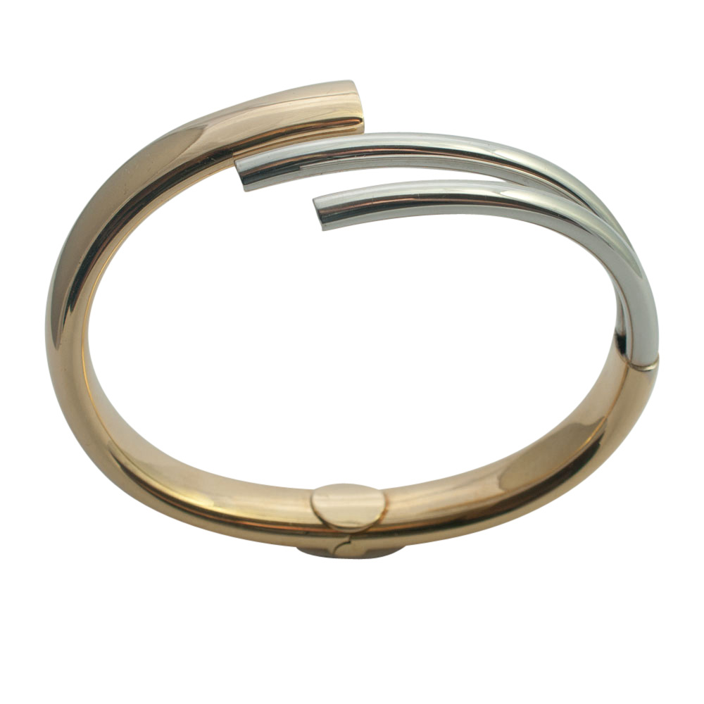 Bi-Colour 18ct Gold Bangle from Plaza Jewellery - image 7