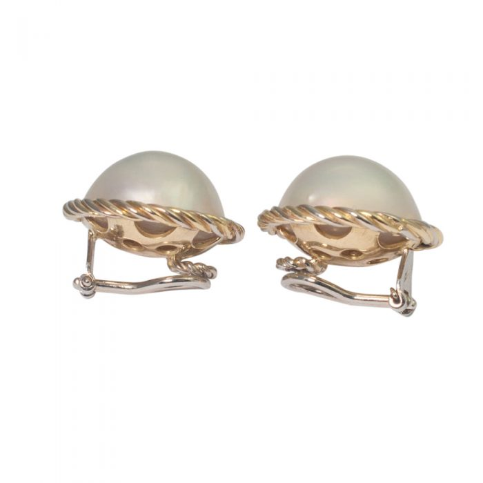 Gold Pearl Clip Earrings from Plaza Jewellery - image 1