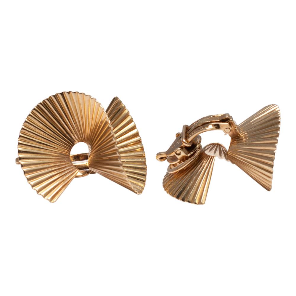 Tiffany Co Gold Clip Earrings
