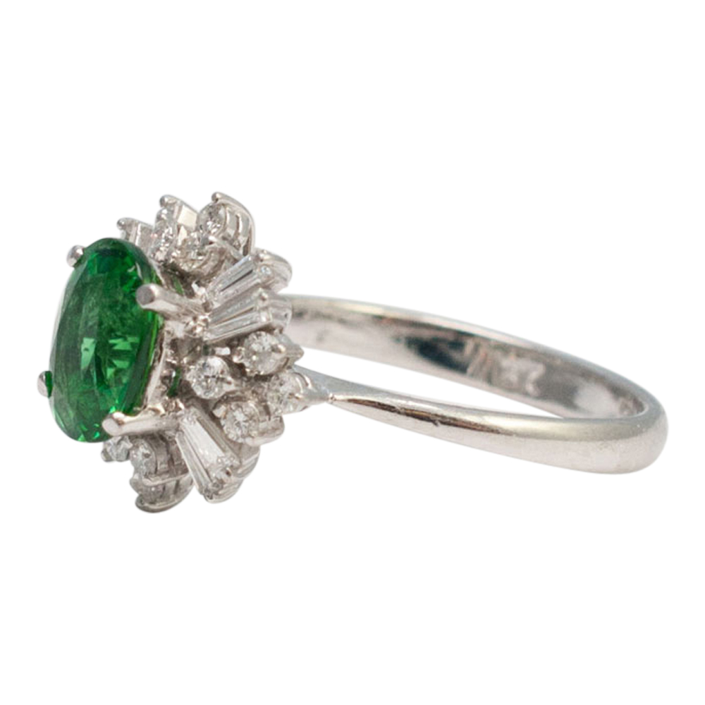 rings diamonds and princess store garnet ring diana tsavorite