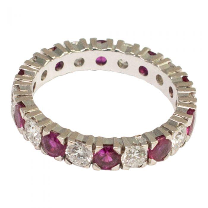 Ruby Diamond Eternity Ring