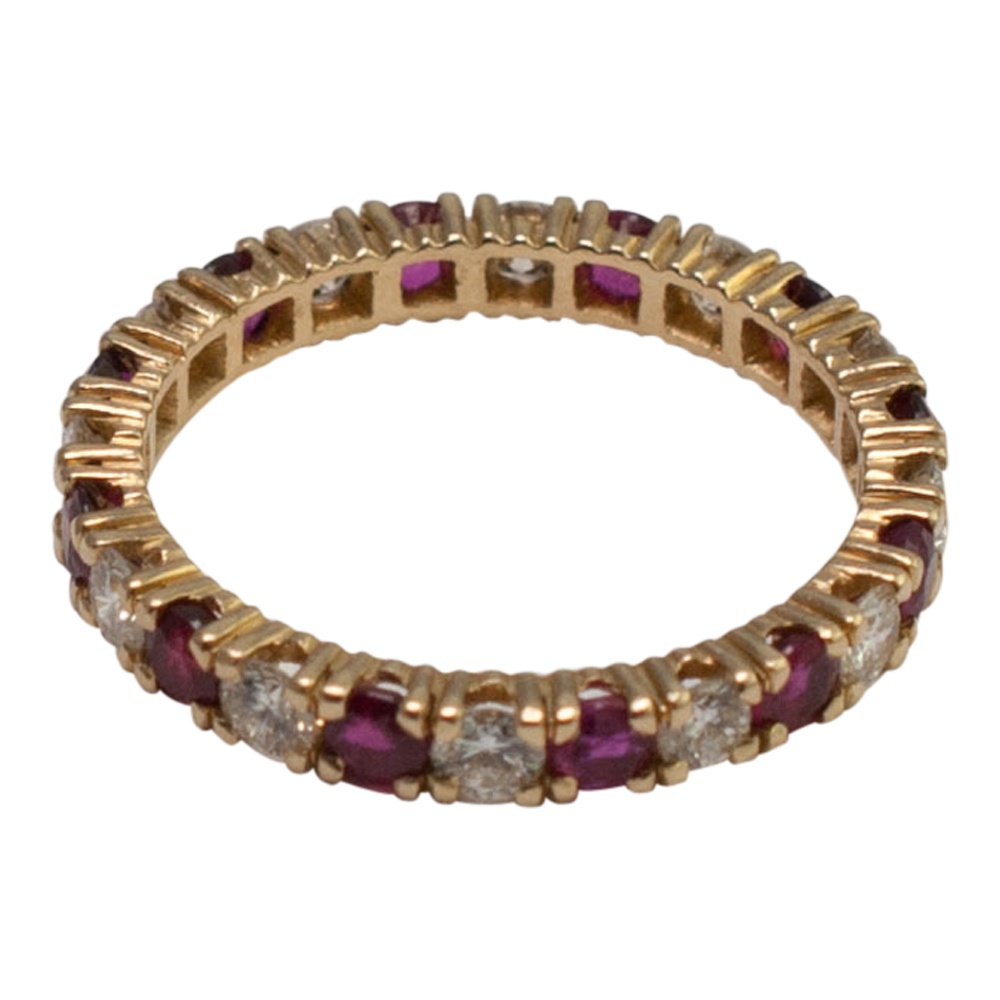 Ruby Diamond Eternity Ring
