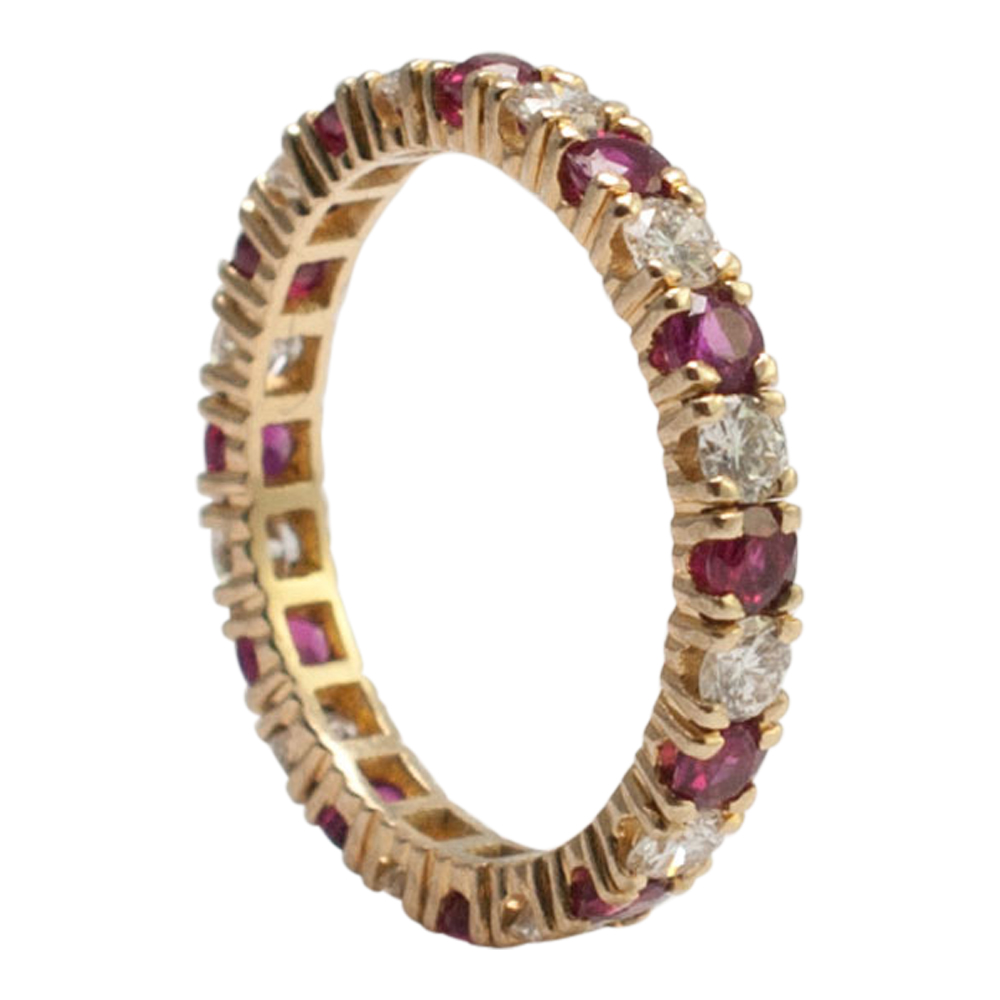 Ruby And Diamond Eternity Ring Plaza Jewellery