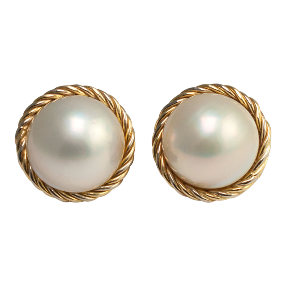 Mabe Pearl Clip Earrings