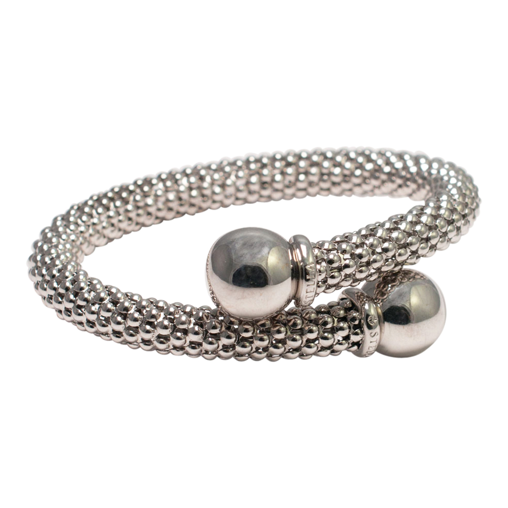 Stella White Gold Bangle