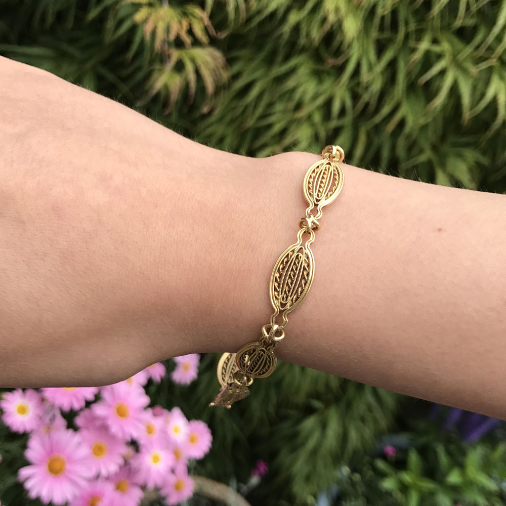Antique French 18ct Gold Bracelet