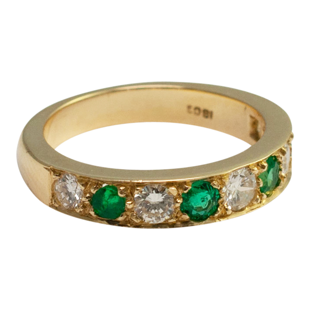 Emerald And Diamond Eternity Ring From Plaza Jewellery
