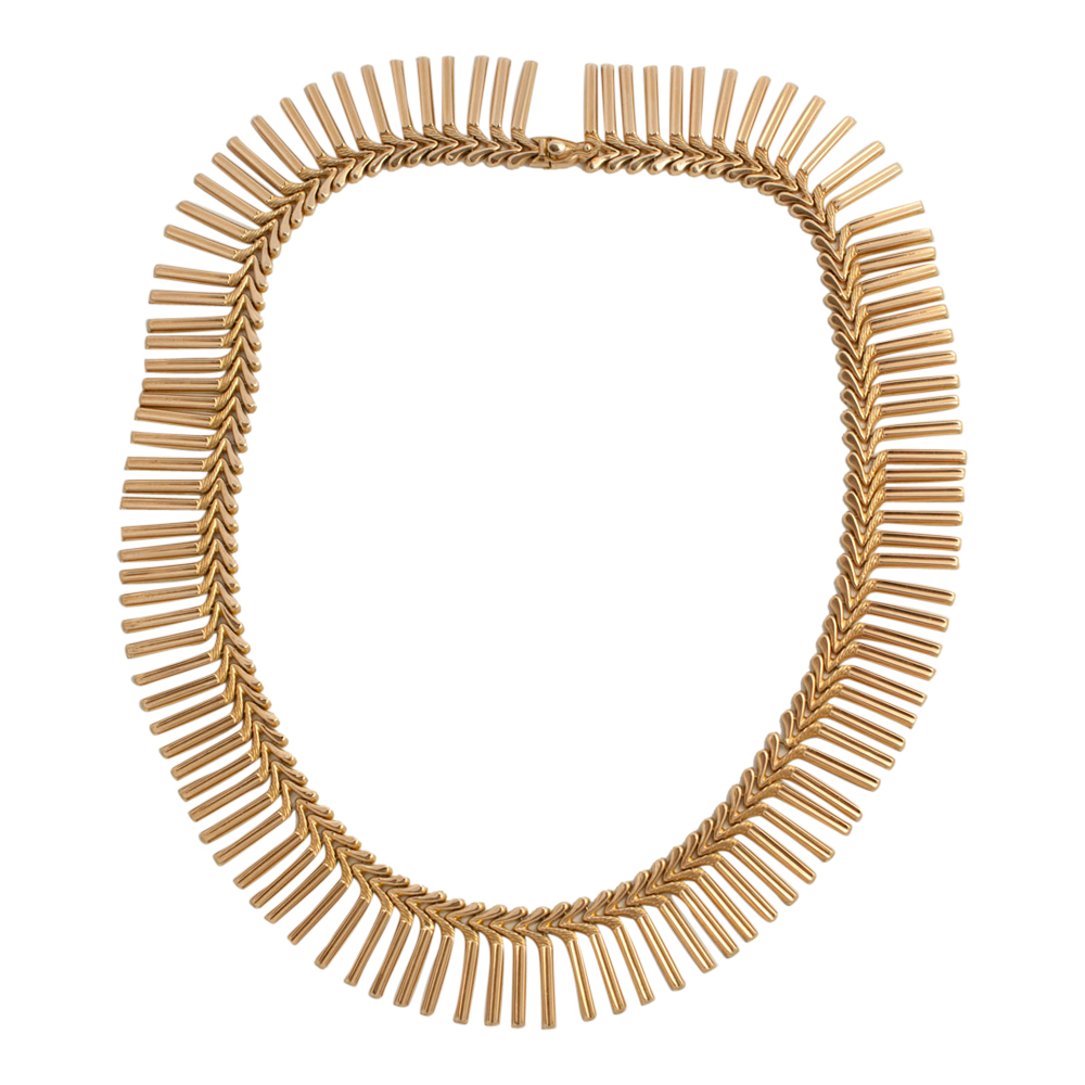 18ct Gold Fringe Necklace