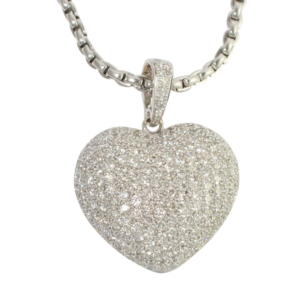 Diamond Heart Pendant and Chain