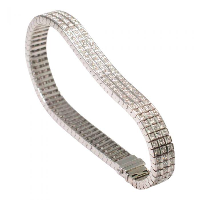 Triple Row Diamond Bracelet