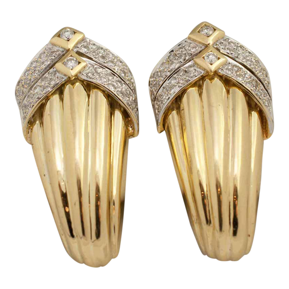 Gold Clip Earrings Mab 233 Pearl Gold Clip On Earrings At