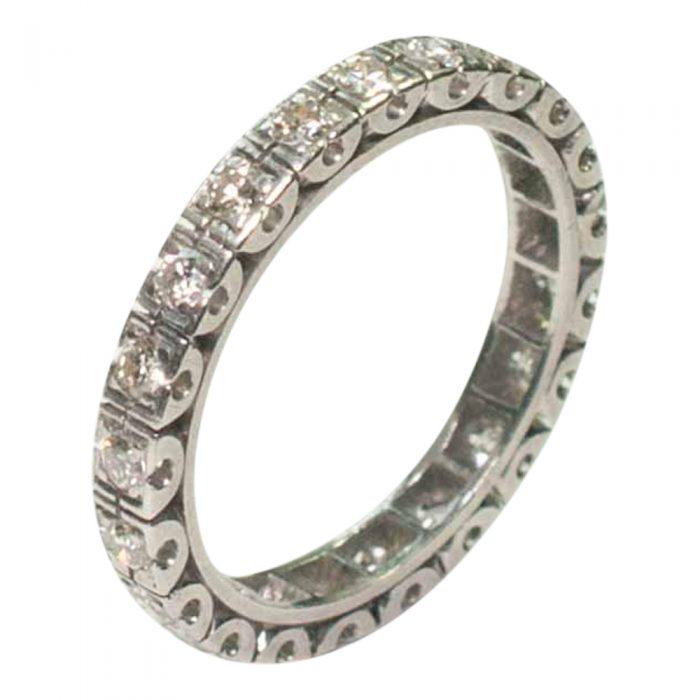 Vintage Diamond Platinum Eternity Ring 1930 wedding