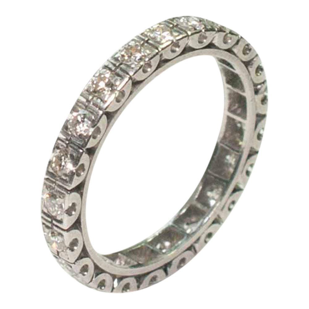 Vintage Diamond Platinum Eternity Ring 1930 wedding