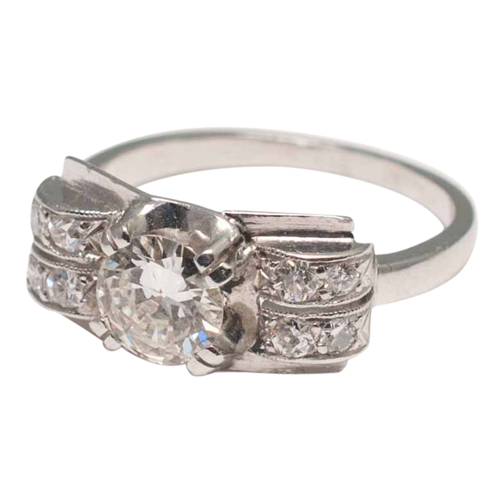 Art Deco Diamond and Platinum Ring