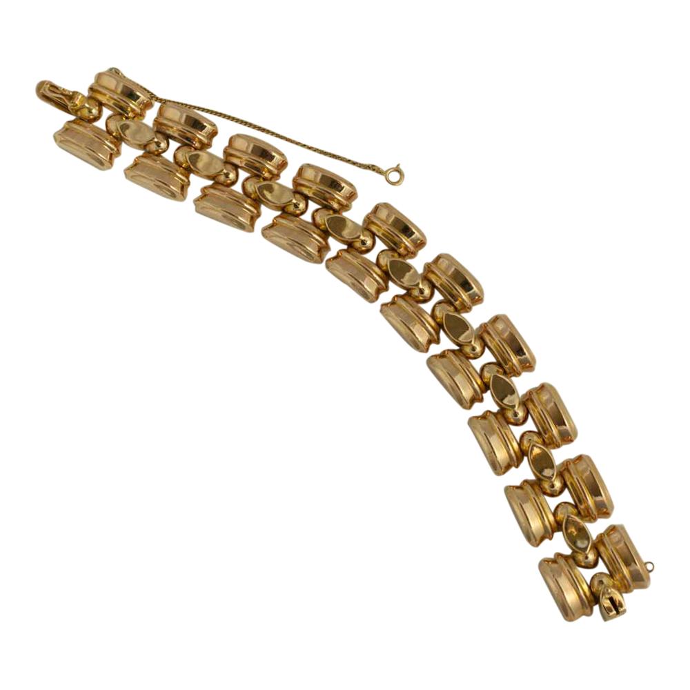 b1a84574d Retro 18ct Gold Tank Bracelet Plaza Jewellery