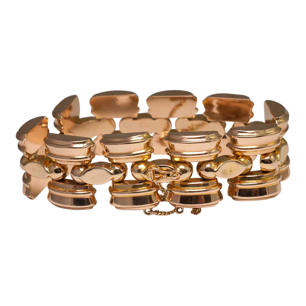 Retro 18ct Gold Tank Bracelet